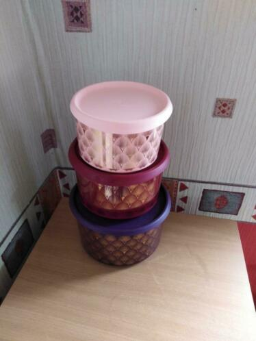Set de 3 boites vintage tupperware