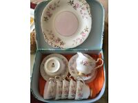 Vintage Paragon tea set 5 trios
