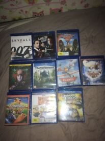 10 Blu Ray films for sale