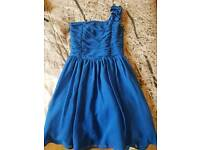 Girls blue party dress