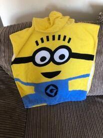 Minions Poncho Towel