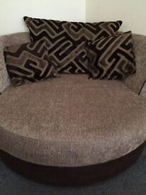 Sofa bed with matching cuddle chair