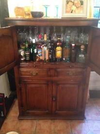 Dark wood antique looking Drinks cabinet