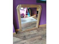 Large oak mirror 120 x 100