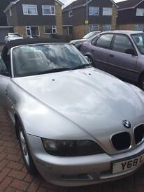 Bmw Z3 convertible 1.8 Petrol Manual Full Service History 80,000 Miles, 1 year mot