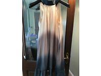 Next silk halter neck dress