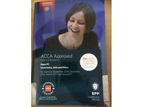 ACCA P1 used theory ,exam practice kit