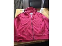 Hollister Men's zip hooded sweat top medium size