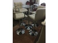 High quality high table with stools