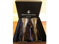 ROYAL DOULTON WINE GLASSES X4
