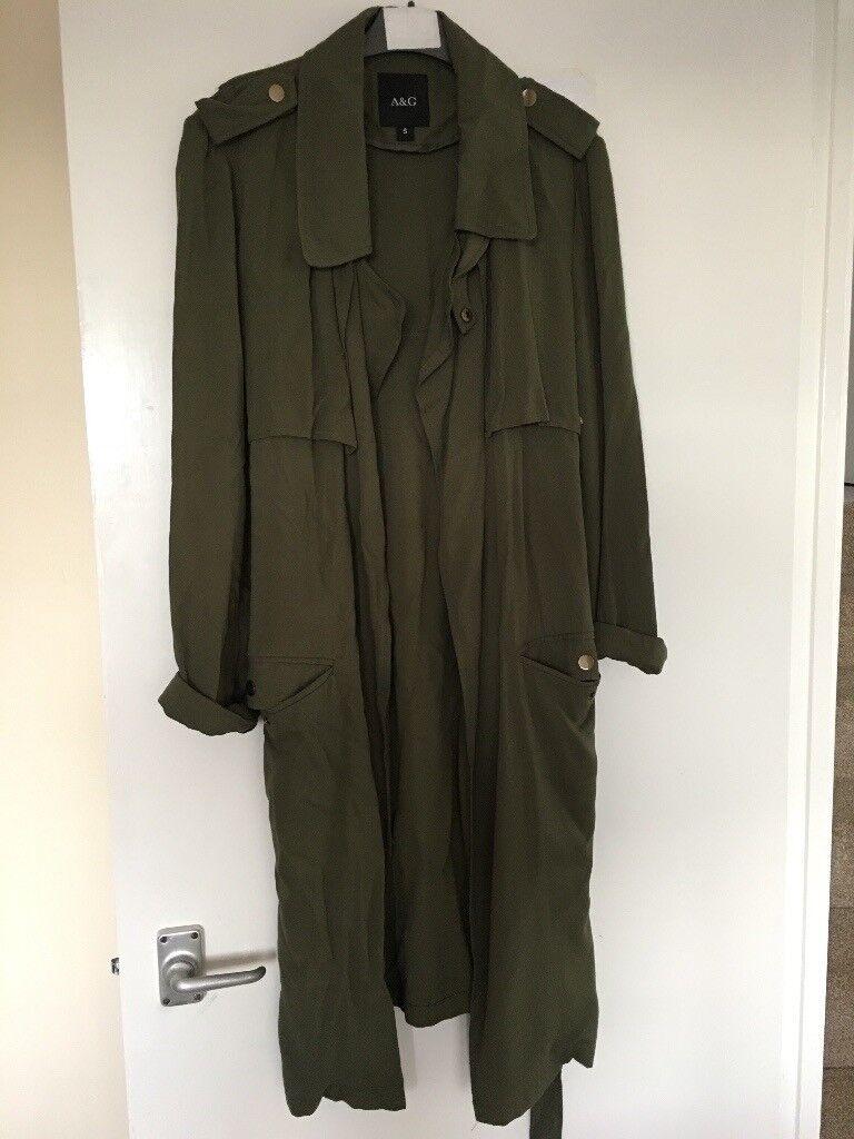 Women's longline jacket size small khaki green
