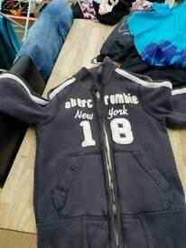 Boys Abercrombie zippers age 10ish