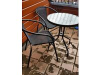 METAL 2 SEATER BISTRO TABLE