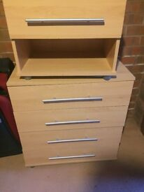 Wardrobe, chest of drawers, bedside tables