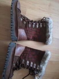 Ladies fatface boots size big 8
