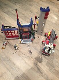 Playmobil Fire Station and Engine