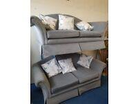 Grey 2 x 2 Seater Sofas