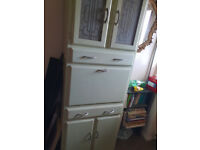 Vintage Kitchen Storage Shabby Chic Retro 1950's Cupboard Cabinet Pantry