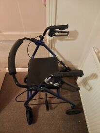 Drive blue walker with built-in seat
