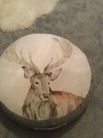 Stag design floor cushion