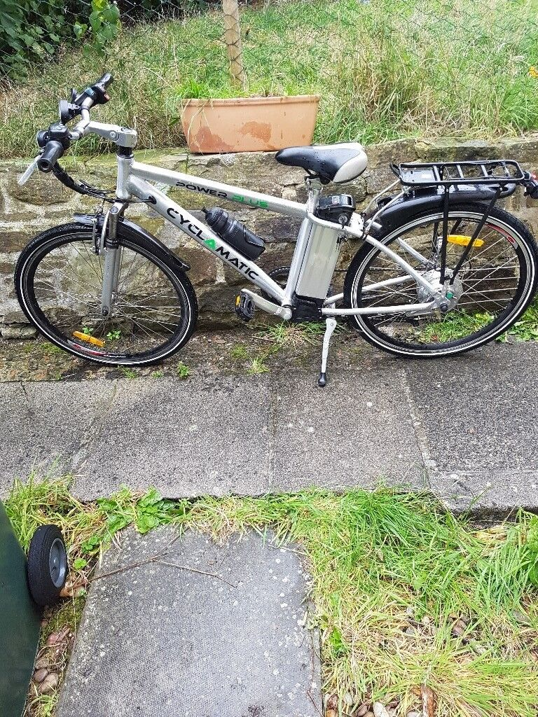Cyclamatic power plus electric bike with spare battery