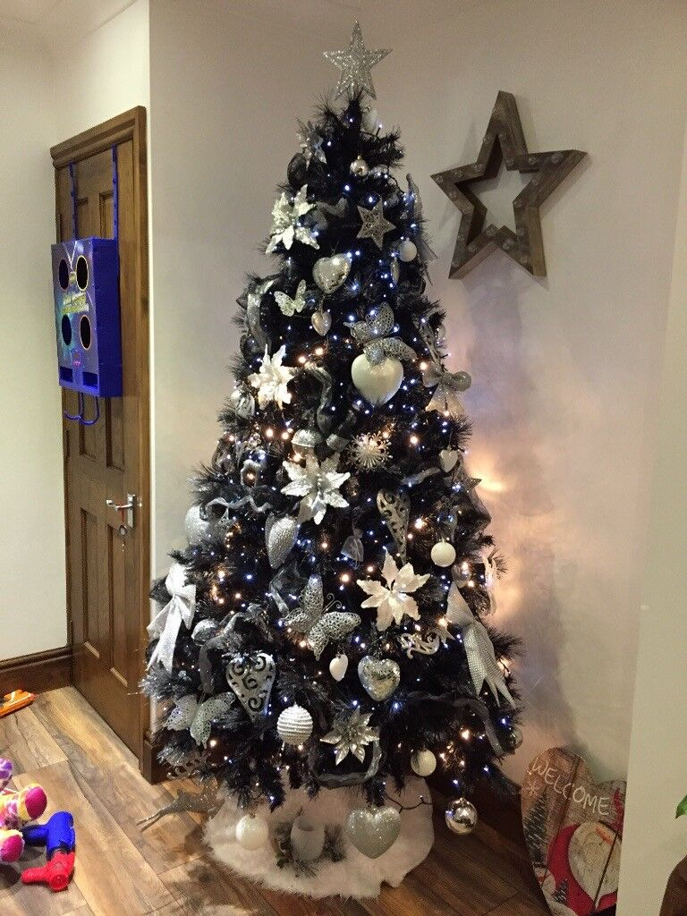 7ft black christmas tree in hull east yorkshire gumtree
