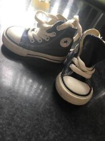 Navy blue converse - baby size 3