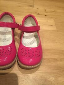 Girls pink party shoes size 9