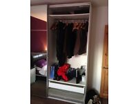 Ceiling high mirrored ikea PAX wardrobes