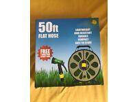50ft Flat Hose with spray gun