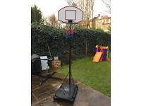 Portable kids basketball hoop.