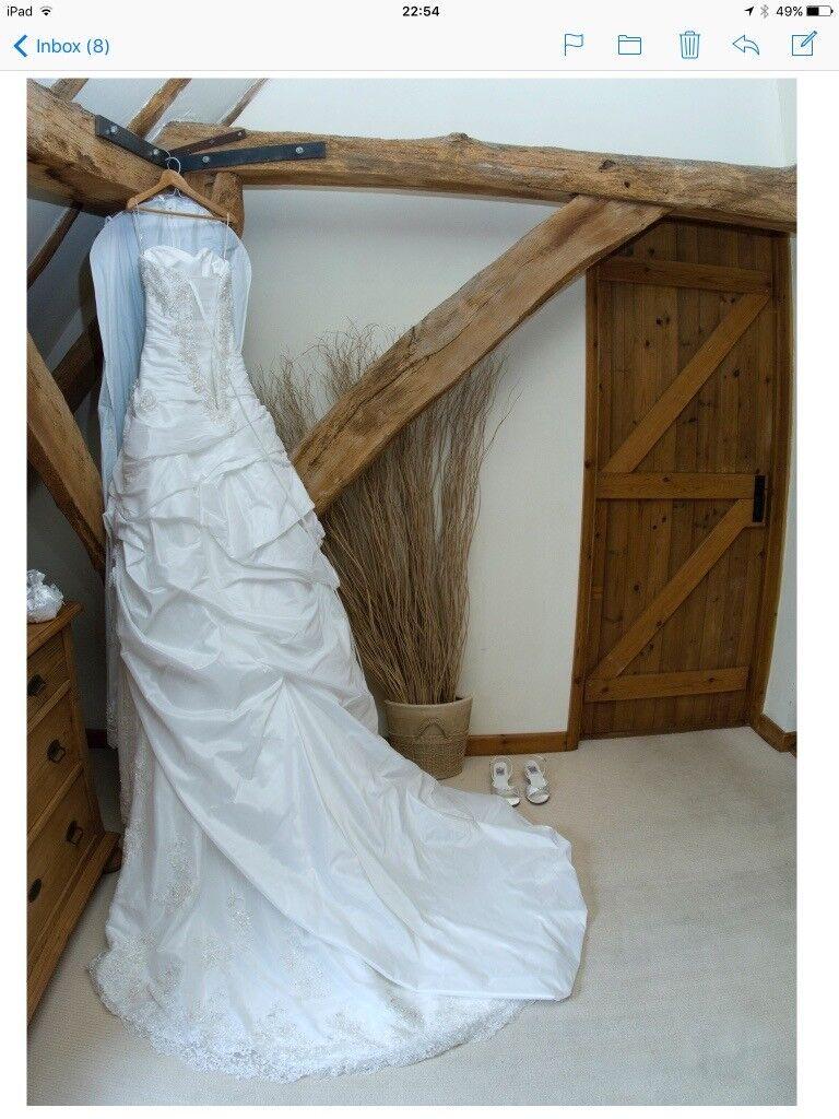 Maggie Sottero SaBelle wedding dress UK 8 petite length, white ...