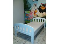 White John Lewis Cot Bed With Waterproof Mattress