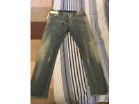 Men's 36R NWT Diesel Wash 0839B_Stretch TEPPHAR Slim-Fit Paint Splater Jeans Cost £260!