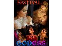 Riverside Festival Make Up body Art