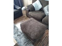 Sofa an chair an footstool