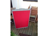 Display stand folds out to approx six foot, ideal for shows/schools/office etc