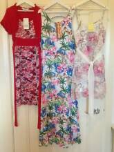 3 x BNWT Girls Tilii Dress/ Gum Maxi Dress/Bardot Tiered -Size 10 Hampton Bayside Area Preview