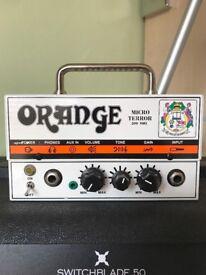 Orange Micro Terror Head and Blackstar HT110 Cab