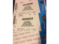 X2 Katy Perry Tickets for FlyDSA Sheffield Arena 19th June 18.30