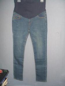 """Brand New Yun Tia Women`s Blue Maternity Jeans Medium W: 16"""" X L: 33"""""""