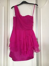 New Pink New Look One Shoulder Dress Size 8