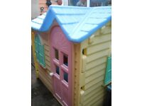 little tikes plastic wendy house