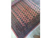 Traditional large woolen Oriental carpet
