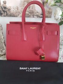 Saint Laurent sac de jour large bag with gold hardware