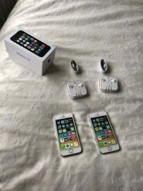 iPhone 5S 16 GB on O2,tesco giffgaff ( 2 available ) Mint Condition - £ 110 each or £ 200 for both