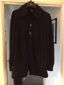 Blue Wool Swing Coat