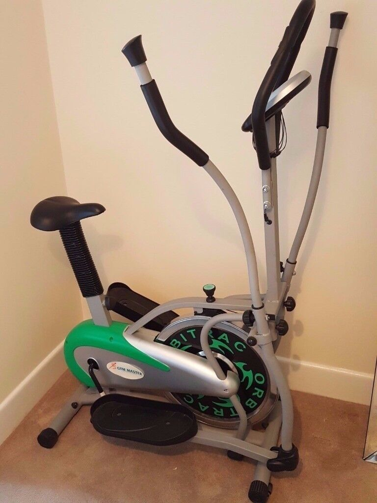 Gym Master 2 in 1 Elliptical Exercise Bike & Cross Trainer in Green for Cardio