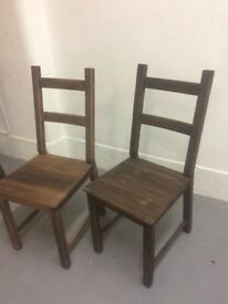 Beautiful hand-stained wooden chairs