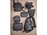 Various Lowe pro camera bags and cases as per pictures, various prices